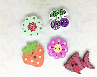 Lot/Set of 5 Button Needle Minders