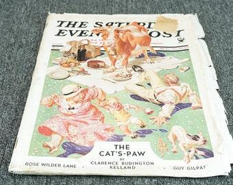 Vintage Saturday Evening Post, C. 1933