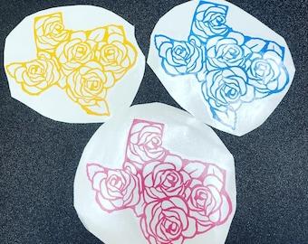 Texas Rose Decals