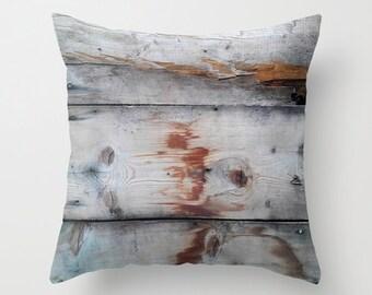 Photo Pillow Cover Decorative Barn wood Pillow Rustic Pillow Brown Pillow