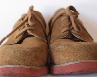 Boys Sperry Topsider Size 4 1/2 Tan Suede Bucks vintage sperry topsider bucks vintage suede boys shoes