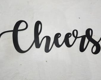 Steel Cheers Sign