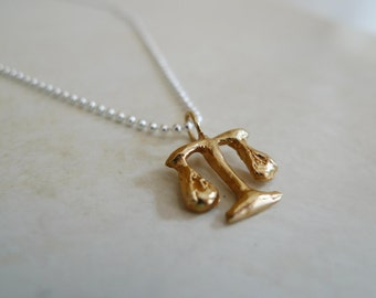 Lawyer What I want to be Necklace in brass and silver