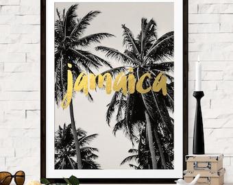 Jamaica Print, Destination Wedding Gift, Jamaica Travel Poster, Palm Tree Photograph, Jamaica Art, Bridesmaid Gift, Gift for Bridesmaid