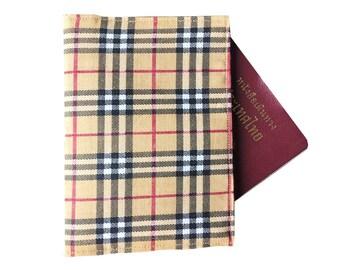 Handmade A Fabric Passport Case Passport Cover Wallet