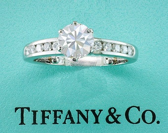 Tiffany & Co. GIA Certified 1.57ct H-VVS2 Diamond Platinum Engagement Ring