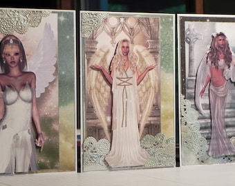 Celestial Bodies - Set of 3 Angel Note Cards