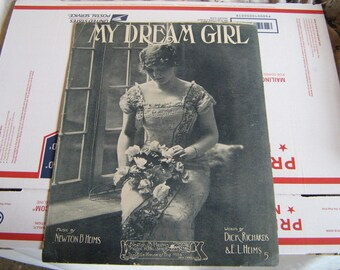 1913  sheet music (  my dream girl   )