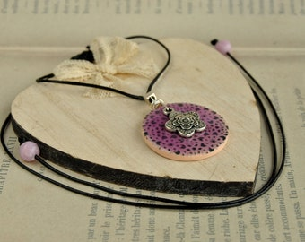 Effect lilac glass pendant