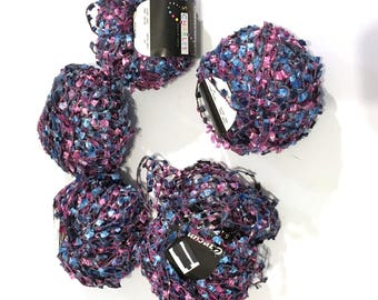 5 Partie Yarn Cancun by Stacy Charles Partita or Partie Lash Novelty Yarn Color 105