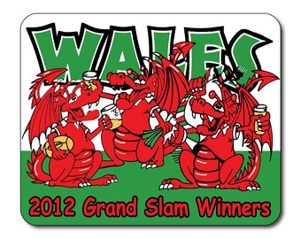 Welsh Rugby Grand Slam 2012 Winners -  Mouse Mat Mouse Pad