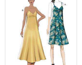 Vogue Sewing Pattern V9278 Misses' Slip-Style Dress with Back Zipper