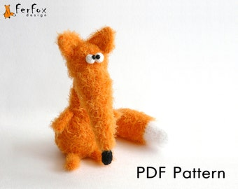 Crochet fox pattern, amigurumi pattern, DIY, crochet amimal, PDF pattern, crochet toy pattern