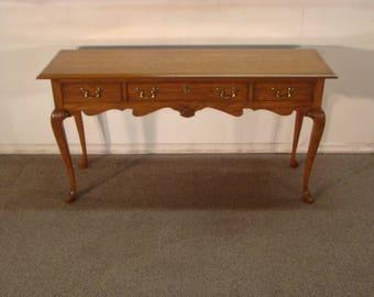 Pennsylvania House Solid Oak Queen Anne Sofa Table