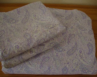 3 pc. Rachel Ashwell Shabby Chic Lavender Purple Paisley DUVET Cover & SHAMS Set - Button Up - King Duvet - Queen Duvet - Vintage Bedding