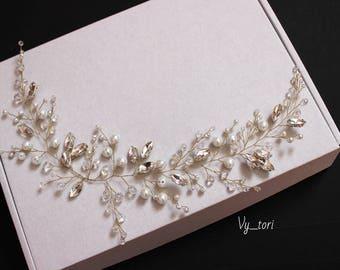 Wedding hair accessories Crystals Hair Vine Wedding Headpiece Bridal hair vine Bridal hair accessories