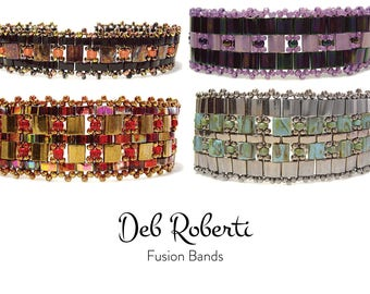 Fusion Bands beaded pattern tutorial by Deb Roberti