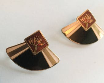 Laurel Burch Earrings, 1970s Vintage Jewelry SPRING SALE