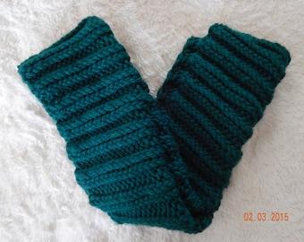 Cowl, Handknit, Emerald Green