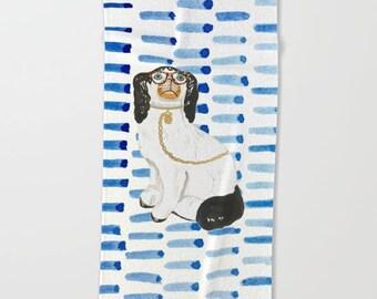 STAFFORDSHIRE DOG TOWELS (4 designs & 3 sizes-Beach, Bath, Hand)