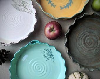 Handmade Pottery Pie Plate