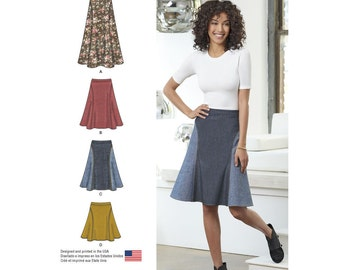 Simplicity Sewing Pattern 8220 Misses' Easy-to-Sew Skirt in Three Lengths