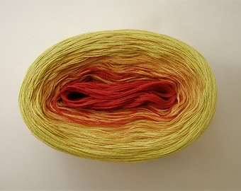 MARGARITA II --  Color Changing Cotton yarn --  480 yards/100 gr --  Fingering Weight