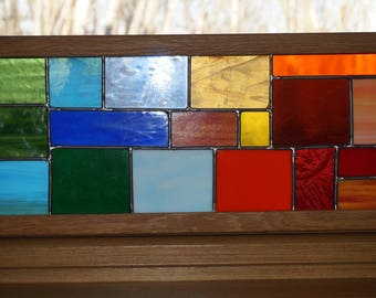 Green to Orange Stained Glass