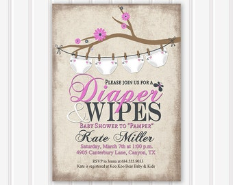 Diaper shower invite Etsy