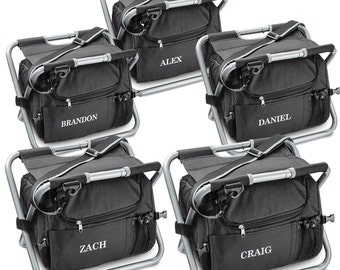 Groomsmen Coolers - Personalized Cooler - Set of 5 Personalized Sit n Sip Cooler - Grooomsmen Gifts - GC545X5