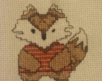 Handmade Fox Cross Stitch