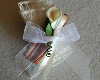 Set 10 pouches placeholder for communion with calla and cinnamon sticks