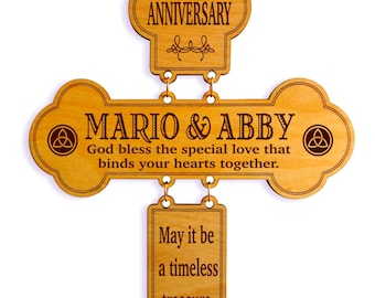 Tin Anniversary Gift - Personalized Gifts for Couples  - 10th Anniversary Gift Idea - 10 Year Anniversary Gift for Couple - Cross