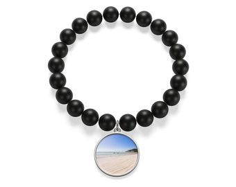 Beach Matte Onyx Bracelet, Gifts For Her, Gifts For Him ,Gifts For Girls, Gifts For Boys