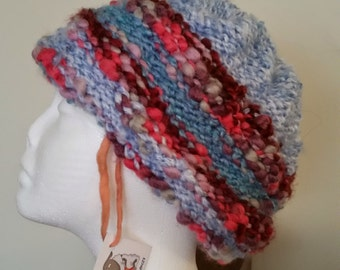 hand knit chunky hat