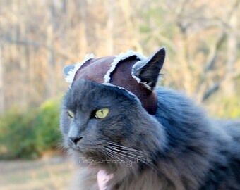 Aviator Cat Hat - Sherpa Suede Cat Hat - Cat Clothes