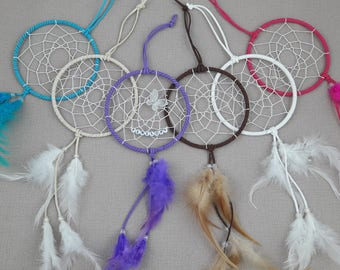 Personalised Dream Catcher -  Brown / White / Purple / Blue / Pink & Cream with butterfly