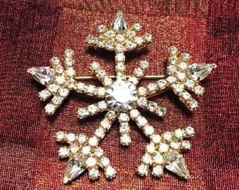 Vintage Snowflake Pin