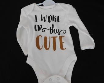 Long sleeved Baby's Bodysuit - White