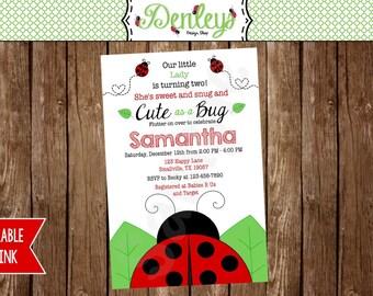 Red Ladybug Invitation (LB03)