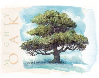 mighty oak – A7 notecard 5-Pack