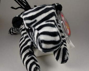 Vintage Ziggy the Zebra TY Beanie Baby in  MINT condition with original tags.  12-24-95