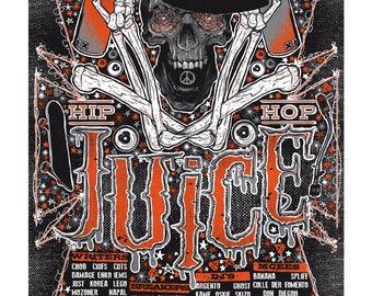 """Hip Hop """"juice"""" Festival Gig Poster"""