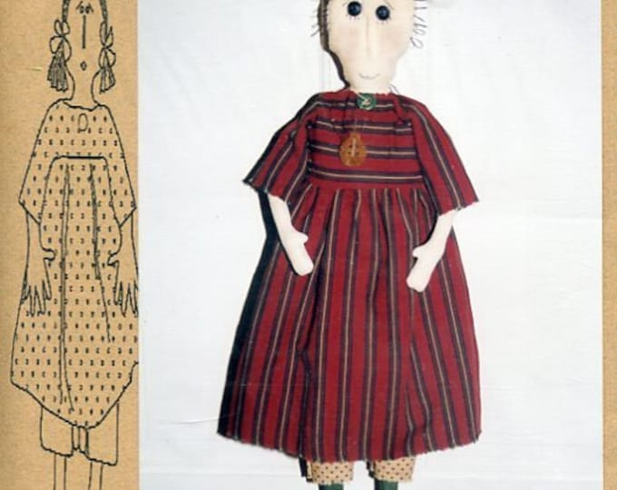 """FREE US SHIP Bless Your Heart Country Crafts 24"""" Doll Ginny Primitive Folk Art Uncut New Old Store Stock Sewing Pattern Ragdoll cloth"""