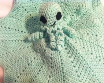 Octopus Lovey - Preemie Lovey - Crochet