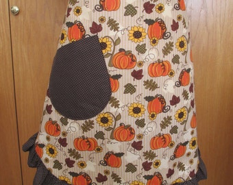 Pumpkins and Sunflower Apron