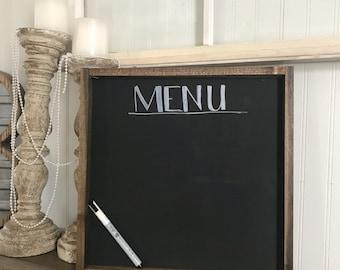 Farmhouse inspired chalkboard