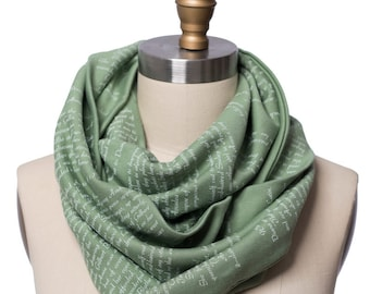 Anne of Green Gables Book Scarf - Infinity Scarf, Literary Scarf, Lucy Maud Montgomery, Book Lover, Books, Reading, Teacher Gift