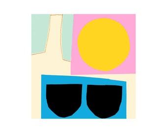Summer Heat. Open Edition Print. Abstract Print.