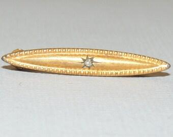 Gold Wash Victorian Tiny Brooch